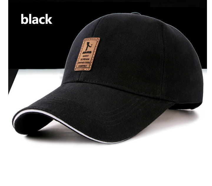 STSR brand autumn and winter baseball cap men and women cotton Snapback Bone dad hat black one size