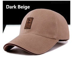 STSR brand autumn and winter baseball cap men and women cotton Snapback Bone dad hat dark beige one size