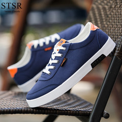 STSR 2019 spring white men's casual shoes sneakers comfortable fashion flat shoes blue 39