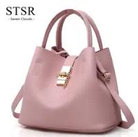 STSR Leather Clutch Bag Female Handbag Luxury Beach Tote Ms. Fringe Shoulder Bag Tote gray one size 1