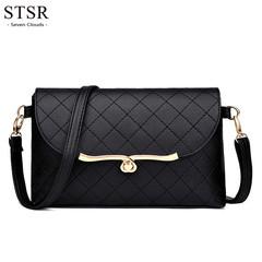 STSR Luxury handbag shoulder bag top PU leather ladies Messenger bag ladies small bag 2019 black one size