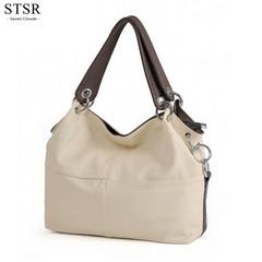 STSR 2019 new fashion women's handbags ladies soft PU leather bag beautiful Messenger bag white one size