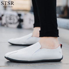 STSR New men's shoes super light and comfortable to wear new peas shoes men's casual shoes white 39