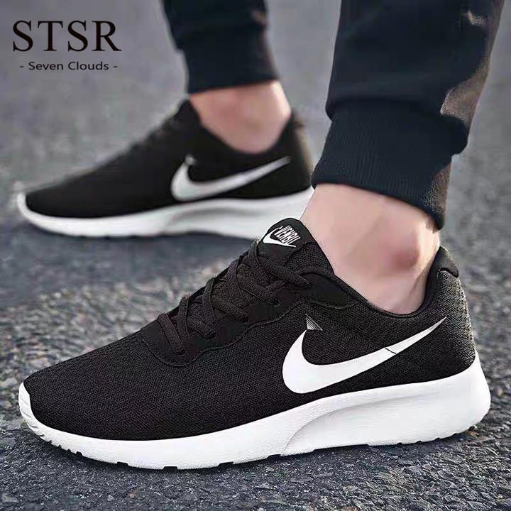 STSR Casual men's shoes black sneakers men's running shoes lightweight walking sneakers black 39