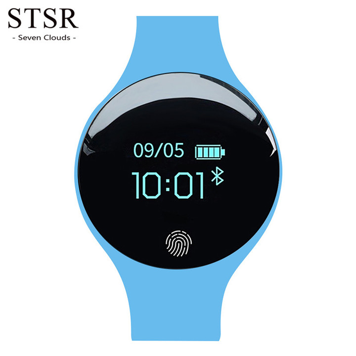 STSR Fashion watch electronic LED digital watch clock digital watch heart rate test blue one size