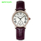 STSR Watch women's top brand luxury leather strap quartz watch women's fashion dress clock purple one size