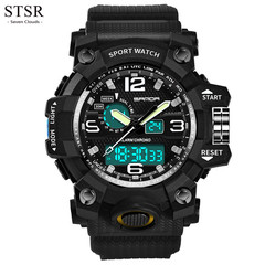STSR Sports Quartz Watch Men's Watch Creative Cost Watch Top Brand Luxury Smart Clock black one size