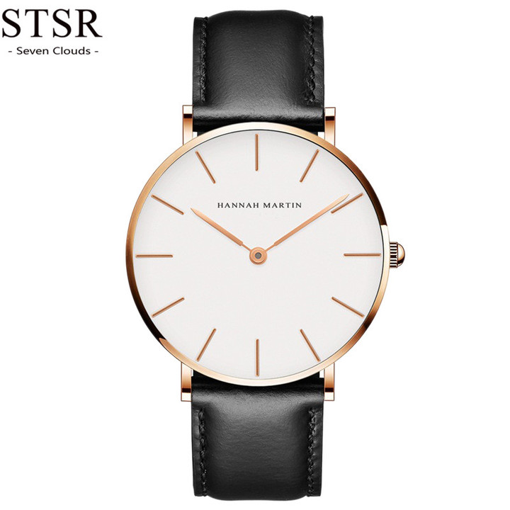 STSR Quartz watch ladies men's fashion watch elegant simple casual waterproof watch black rose gold one size