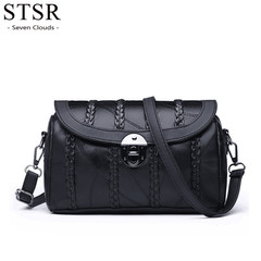 STSR 2019 Pillow Bag Lady Handbag Fashion New Bag Shoulder Messenger Bag Lady Handbag Luxury black one size