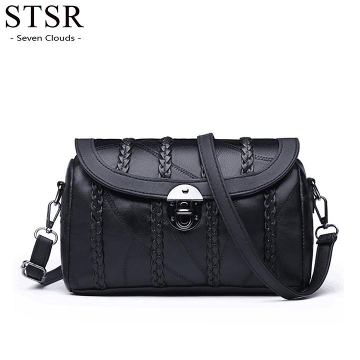 STSR 2019 Pillow Bag Lady Handbag Fashion New Bag Shoulder Messenger Bag Lady Handbag Luxury black one size