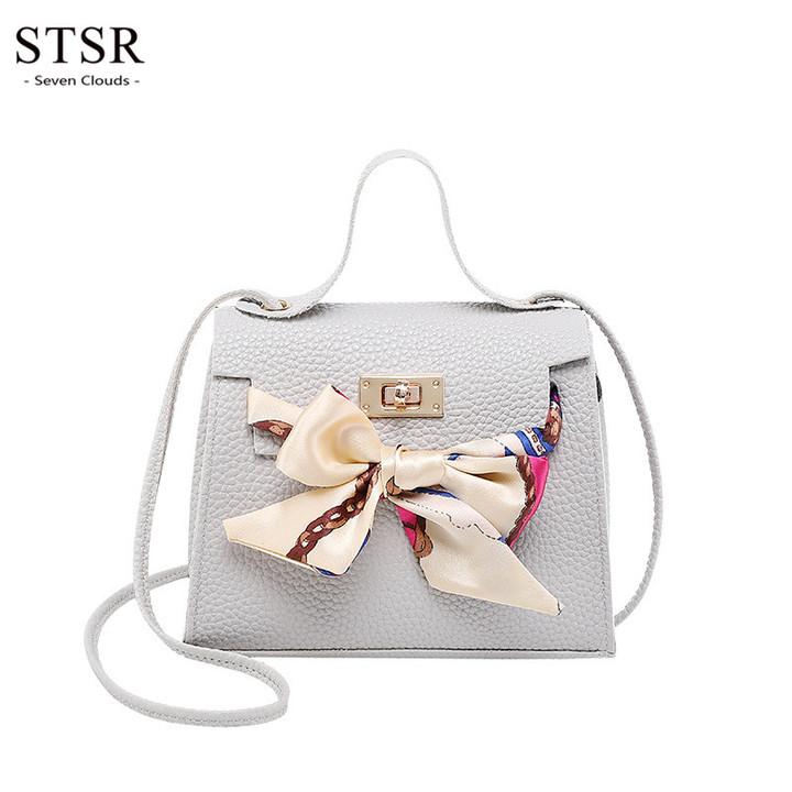 STSR Fashion lady handbag travel shoulder bag female PU leather handbag ladies travel wallet gray one size