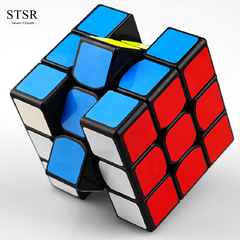 STSR Three-order Rubik's Cube Game Learning Decompression Toy Educational Toy Gift random one size