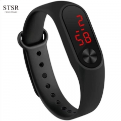 STSR 2019 Sports Smart Waterproof Watch New Fashion LED Clock Sports Electronic Watch black one size