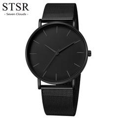 STSR Military sports watch men's analog quartz stainless steel watch men's luxury men's watch black one size