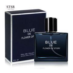 50ml Men's Fragrances Long Lasting Ocean Fresh Spray Perfume Deodorant Men's Fragrances Cologne blue