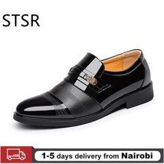 Summer Men Patent Leather Dress Shoes Men Business Shoes Style Fashion Oxford shoes Male Footwear black 42 pu