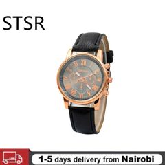 2021 Luxury Casual Watch Roman Numeral Men's Watch Quartz Watch Ladies Jewelry black One size