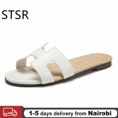 Women Summer Party Shoes Fashion Women Fashion Platform 2020 Summer Slippers  Shoes Sandals White 38