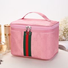Portable Large-capacity Square Cosmetic Bag Cosmetics And Skin Care Storage Bags Women's Bags Pink