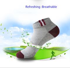 Thin section 5 Pair Mens Short Socks Men Ankle Socks Skatebord Ankle Absorb Sweat Socks Sports Socks Random color one size