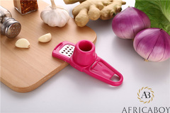 Multifunctional kitchen tools, garlic grinder, garlic pounder, garlic peeler garlic mash red 4.2*13.8*4
