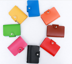 Click Coupon Aipot Card Case Cover Credit Card stripe Leather Wallet Button Card Package Red 1