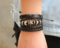JustMercier stars Braided Leather Bracelet for Men Women Cuff Wrap Bracelet Adjustable star one size