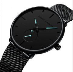 Click Coupon JM Mens Watches Fashion Luxury Business Classic Wrist Steel strip Watch FBK blue one size