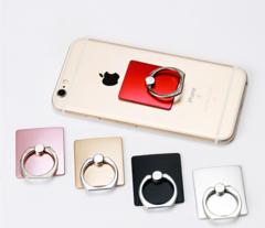 Mobile Phone Holder Stand Cat Head Plating Ring Holder Bracket Ring Buckle Lazy blblack square one size