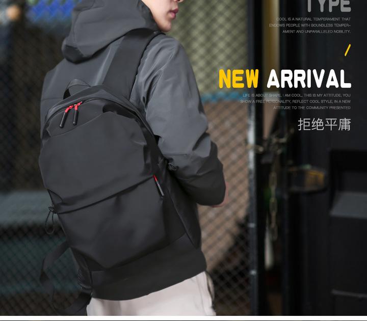 JM Oversized large capacity Backpack,Lightweight Business Waterproof Men,Nylon Sports Bags student Black one size