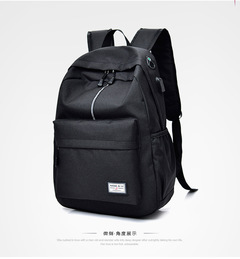 JM Mens Laptop Backpack with USB Charging College Computer Business Student,Book Bag Casual Travel Black one size