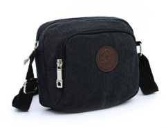 Men's Messenger Bags Canvas Shoulder Bag Fashion Men Business Crossbody Handbag Dark gray one size