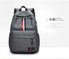 JM Backpack,  School Backpack with USB Charging Port for Men,Rucksack Daypack for Outdoor Camping Gray one size