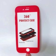 360 degree all inclusive TPU case for Apple iPhone soft shell frosted new case RED iphone6/6s