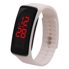 Led touch watch student sports electronic bracelet watch led silicone watch white one size