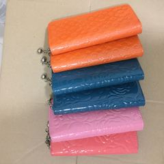 long wallets for women orange one size