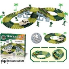 DIY dinosaurs tracks green one size