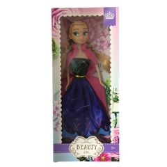dolls frozen Elsa and Anna purple with cape one size
