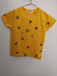 Boy's T-shirt with round collar and short sleeves Yellow 5 Pure cotton