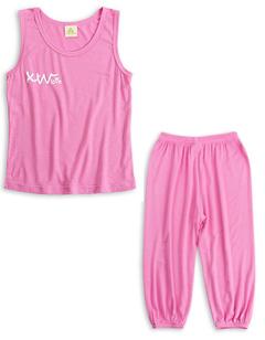 Children's vest suit pink 90