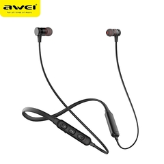 Awei G10BL Stereo Bluetooth Sports Earphones Neckband Wireless Magnetic Absorption Earbuds black