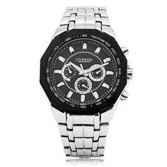 Curren 8084 Male Quartz Watch Luminous Pointer 3ATM Decorative Sub-dial Wristwatch