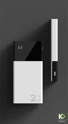 Elegant, Minimalist & High Capacity Power Bank 20000mAh black & white 20000
