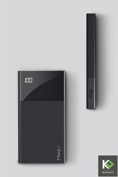 Elegant, Slim & Minimalist Power Bank 10000mAh black 10000