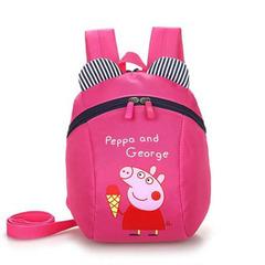 Backpack Kindergarten Backpack Children Shoulder Backpack Lost Cartoon Backpack Rose red