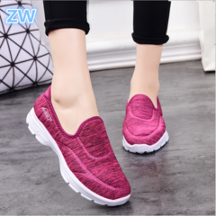 Soft-soled Breathable Footwear For The Elderly Sports And Leisure Shoes Anti-slip Mothers Shoes red 36