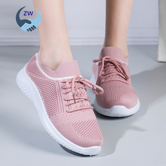 ZW Shoes Women Shoe Women Athletic Shoes Mesh Breathable Fashion Sneakers Running Shoes Casual Shoes pink 39