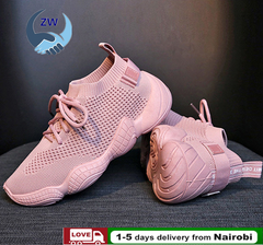 ZW Shoes Women Shoe Women Athletic Mesh Spring Sneakers Lace Up Casual Shoes Breathable Fashion pink 39