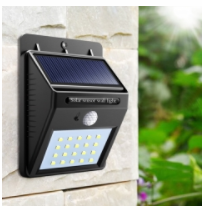 Solar Light LED Body Sensor Light Outdoor Waterproof Street Light black 3 functions
