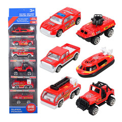 Car Set Model Toys for Fire Engineer of Children's Engineering Vehicle Red 1